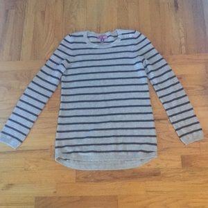 Aqua grey and blue cashmere sweater